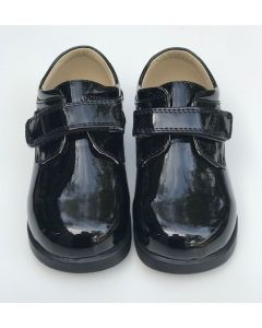 291 Boys Patent Leather Black Shoes