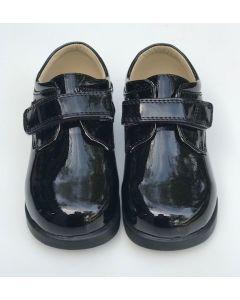 291 Boys Patent Leather Black Shoes