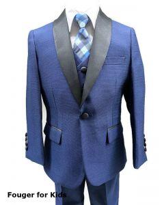 640 - Navy Textured Tuxedo