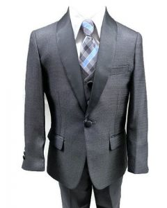 640 - Charcoal Textured Tuxedo