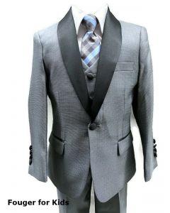 640 - Grey Textured Tuxedo