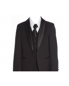 640 - Black Textured Tuxedo