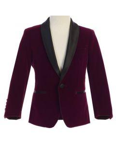643 - Plum Velvet Jacket