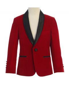 643 - Red Velvet Jacket