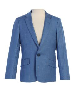646 - Light Blue Linen Jacket