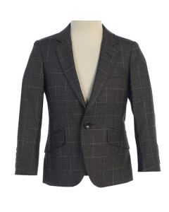 646 - Charcoal Linen Jacket