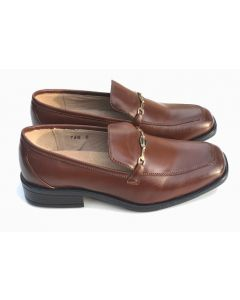 746 Boys Leather Shoes Dark Brown