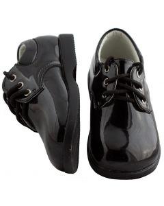 294 Boys Patent Leather Black Shoes