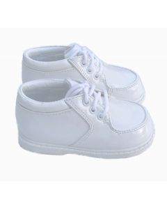 202 Boys Patent Leather White Shoes