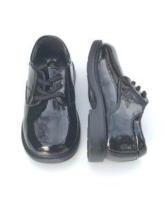 Boys Patent Leather Shoes Plain Black