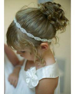 Ribbon Headband with Rhinestones