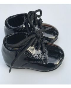 121 Tutu Baby Boys Patent Leather Black Shoes